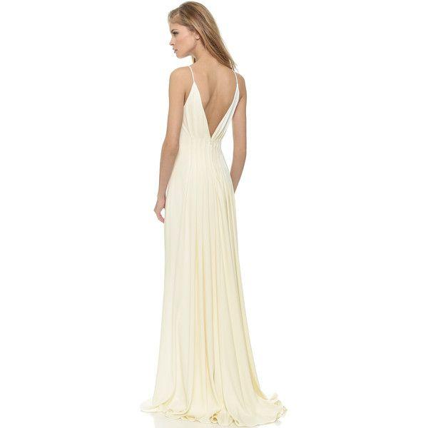 Ivory Open Back Maxi Dresses