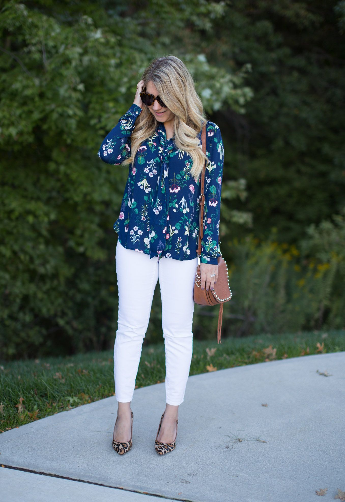 Fall Floral and Leopard Casual Outfit • The Mix
