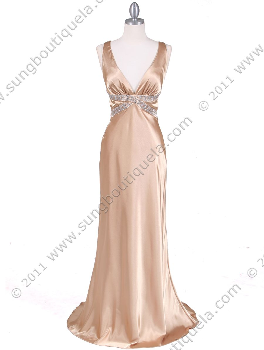 Gold Evening Dresses, Gold Prom Dresses, Gold Special Occasion ...