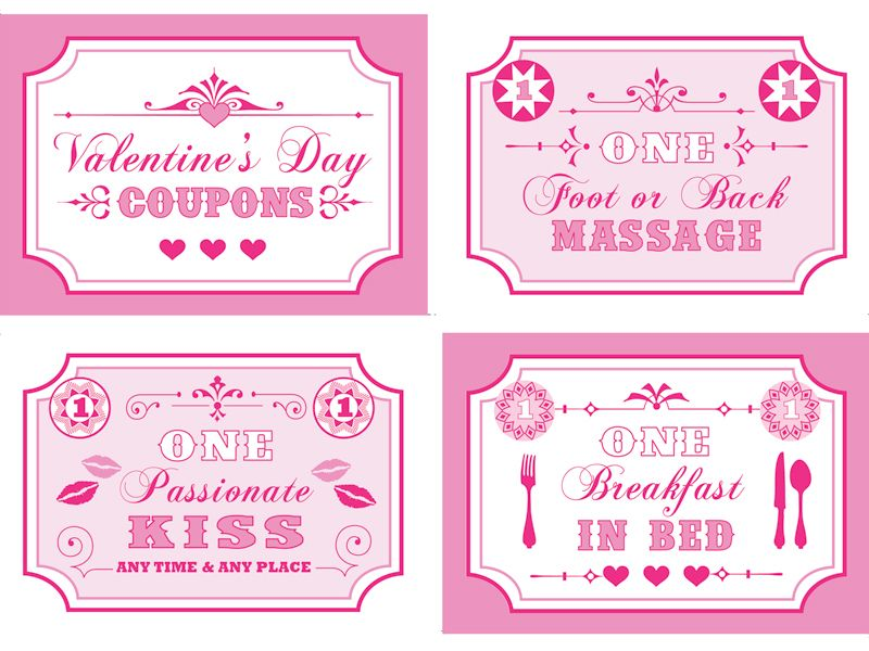Free Valentines Download  Valentines Coupon Book  Coupons