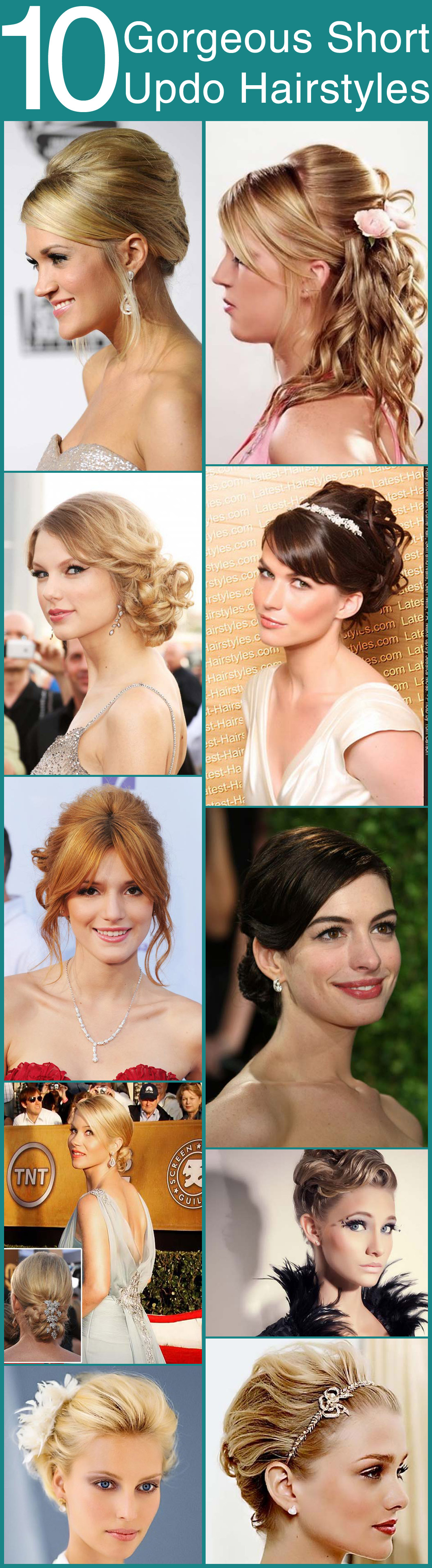 10 Gorgeous Short Updo Hairstyles