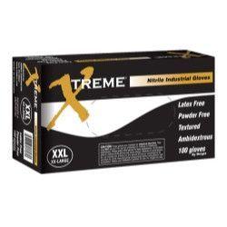 Xtreme® Powder Free, Textured, Blue Nitrile Gloves, XXLarge AMXXNPF49100