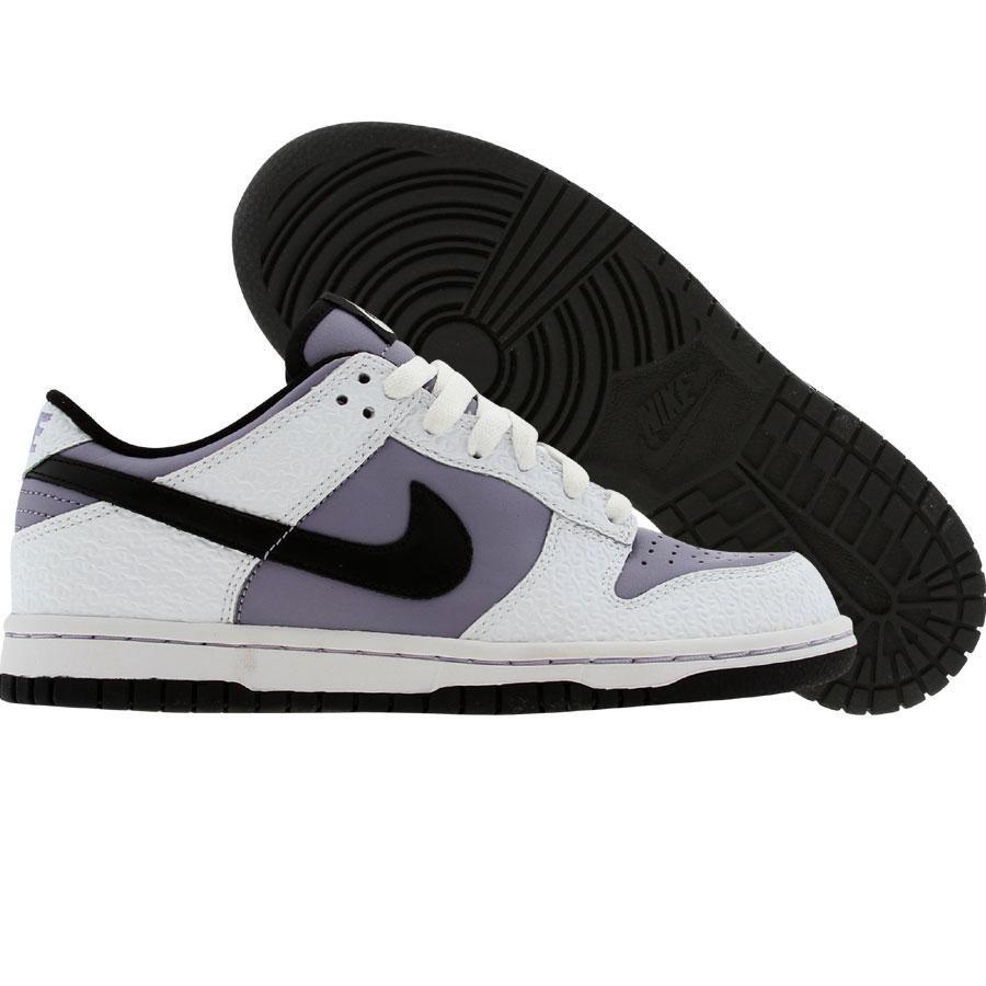 Nike Womens Dunk Low (white   black   violet haze) 309324-102 -  79.99 f58985123