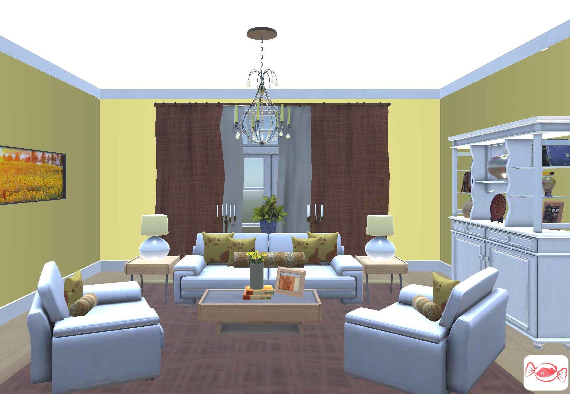 Yellow Living Room Created With Home Sweet Home 3d App Yellow