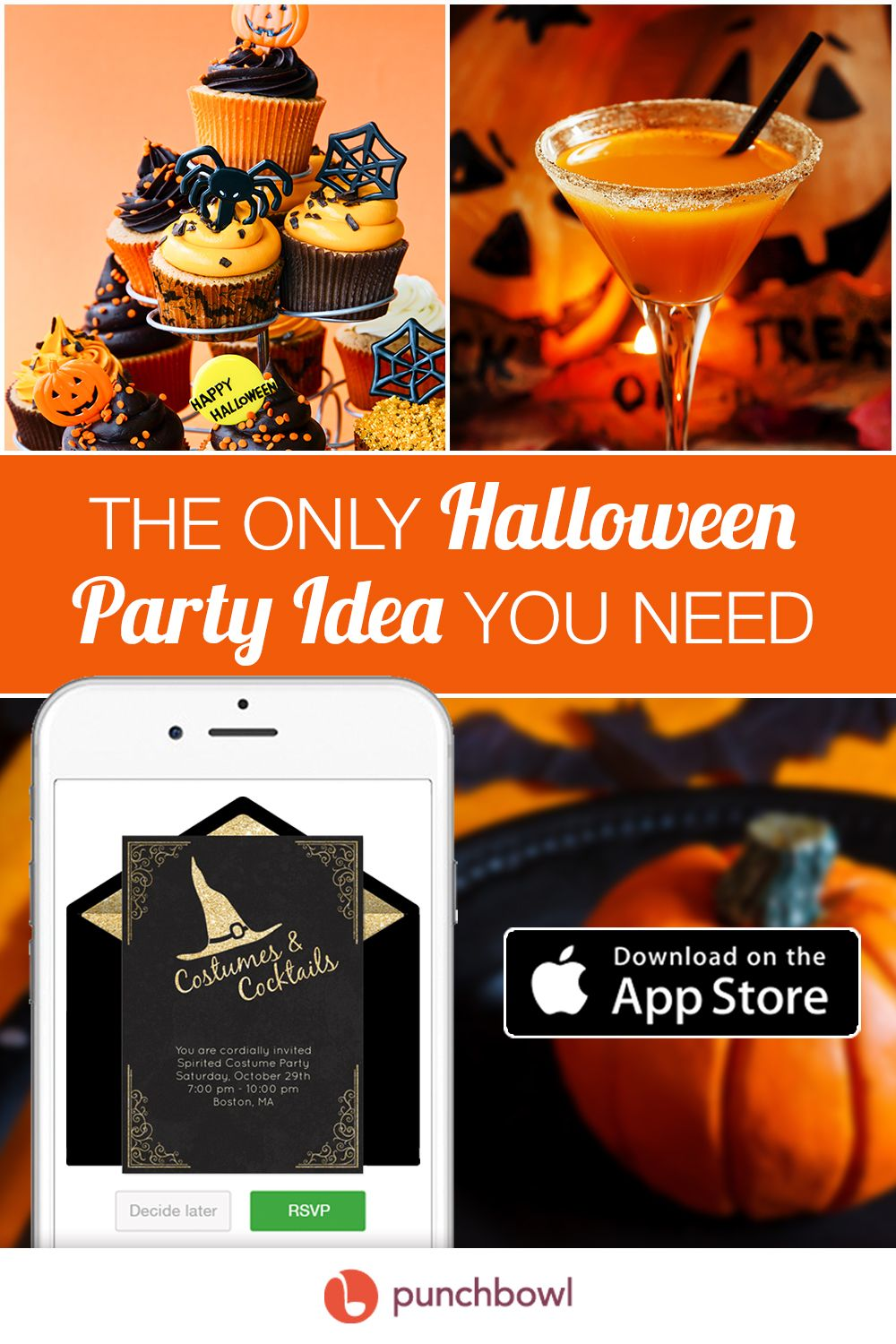 Send free Halloween invitations by text message right from