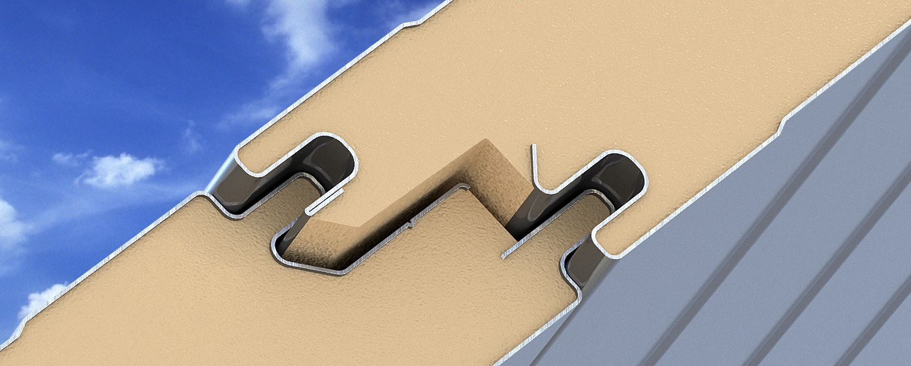 Tongue And Groove Joint Of Awip Panels Ensure Integrity Of A Building S Thermal Envelope Insulated Panels Roof Panels Deck Systems