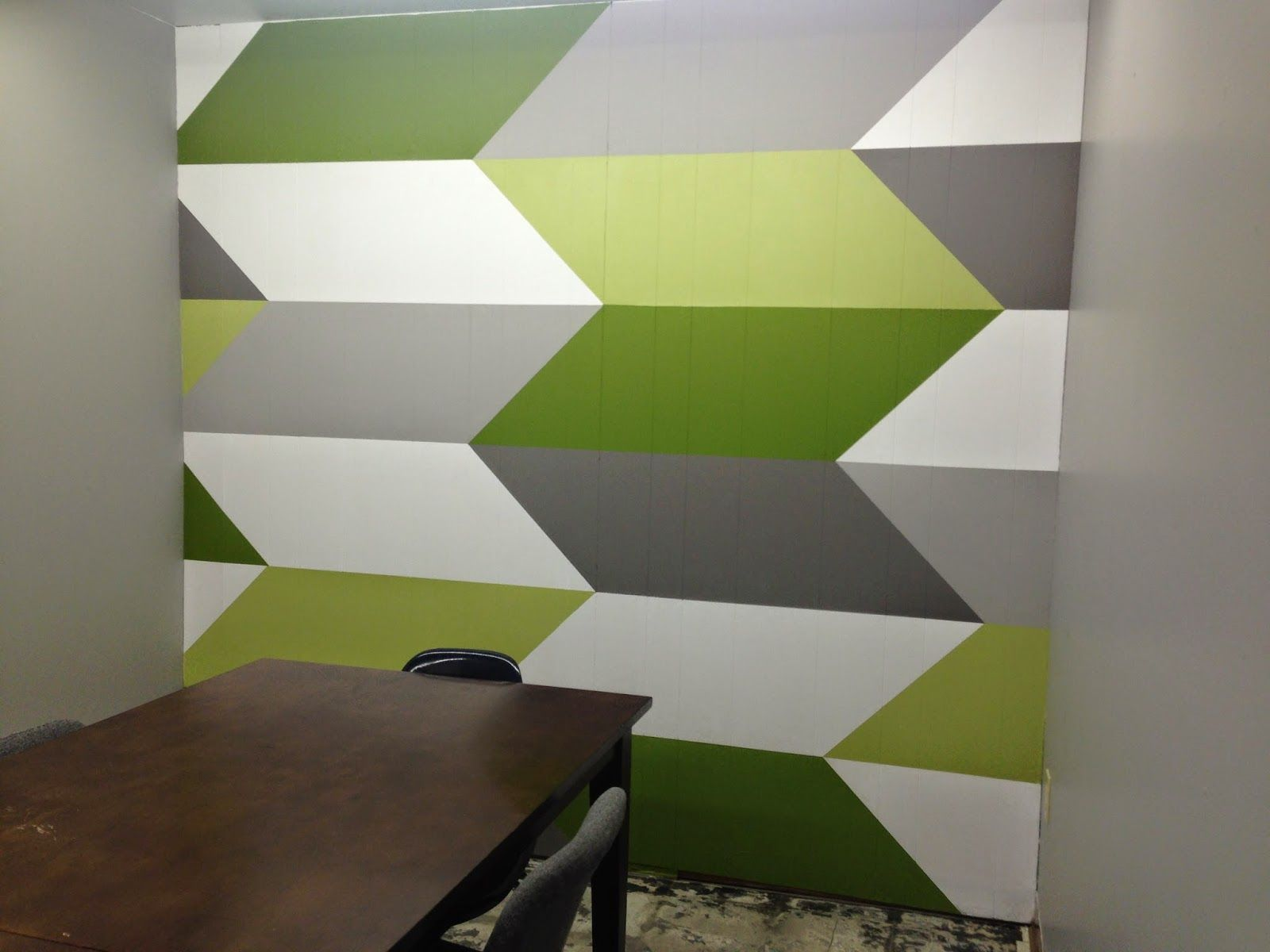 Geometric Chevron Wall Before And After Chevron Wall Wall