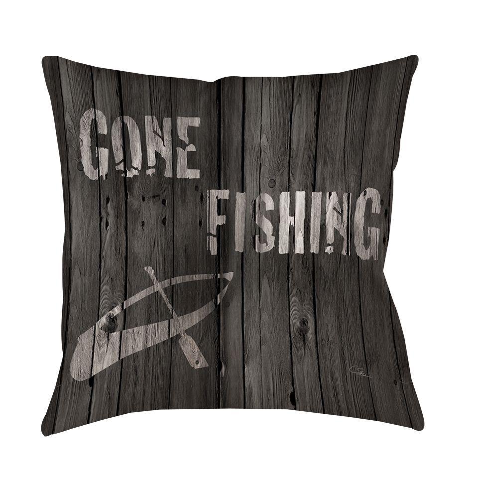 Gone Fishing Decorative Pillow Pillows, Duvet covers