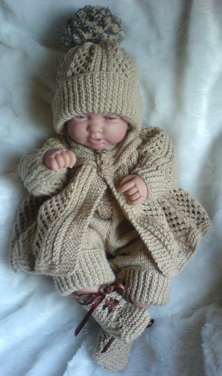 Free Knitting Pattern For Handsome Cables Baby Cardigan And Matching