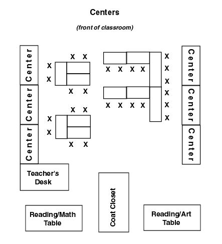 Example first grade classrooms sample classroom floor for Classroom floor plan examples