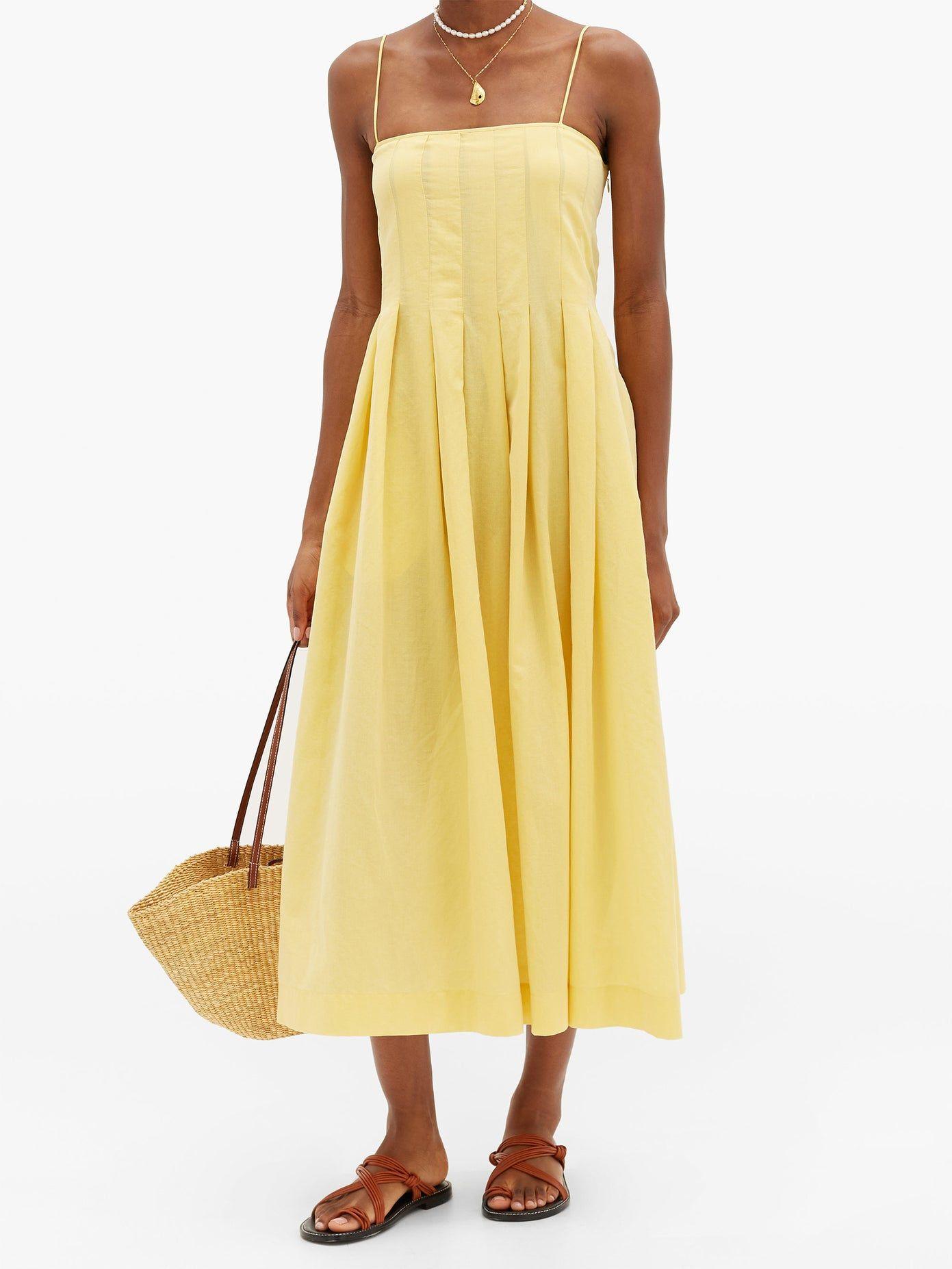 Lucia Pleated Cotton Gauze Maxi Dress Three Graces London Matchesfashion Uk Gauze Maxi Dress Maxi Dress Dresses [ 1854 x 1391 Pixel ]