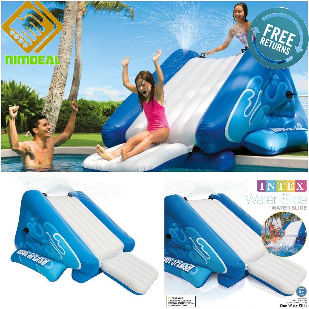 inflatable pool slide inground water spray kit swimming splash waterslide jumbo