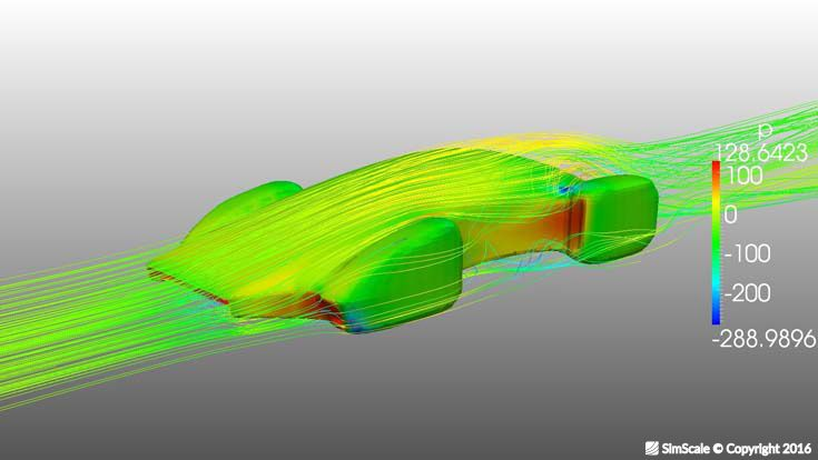 Aerodynamics simulation: virtual wind tunnel using SimScale