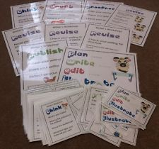 Writer's Workshop Classroom Display Cards A4 Laminated