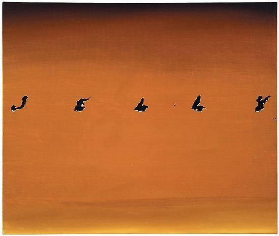 ED RUSCHA Jelly, 1967 Oil on canvas 20 x 23-7/8 inches (50.8 x 60.6 cm)