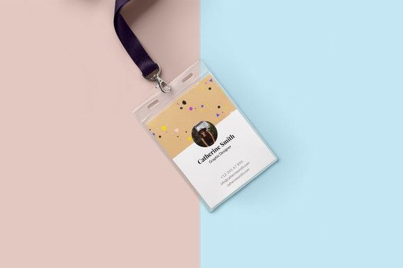 Minimal Creative Id Card Design  Creative Card Templates