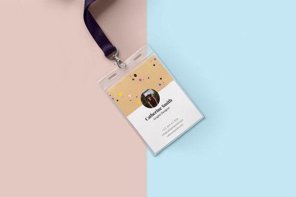 Minimal Creative Id Card Design  Creative Card Templates