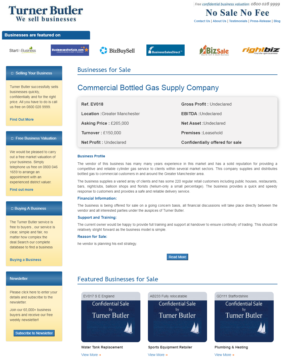 Are you looking to buy a bottled gas supply business for