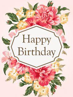 Gorgeous Flower Birthday Card For Her Tarjetas Happy Birthday