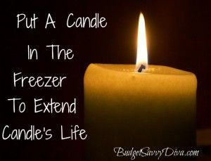 Put a Candle In The Freezer To Extend Candle's Life