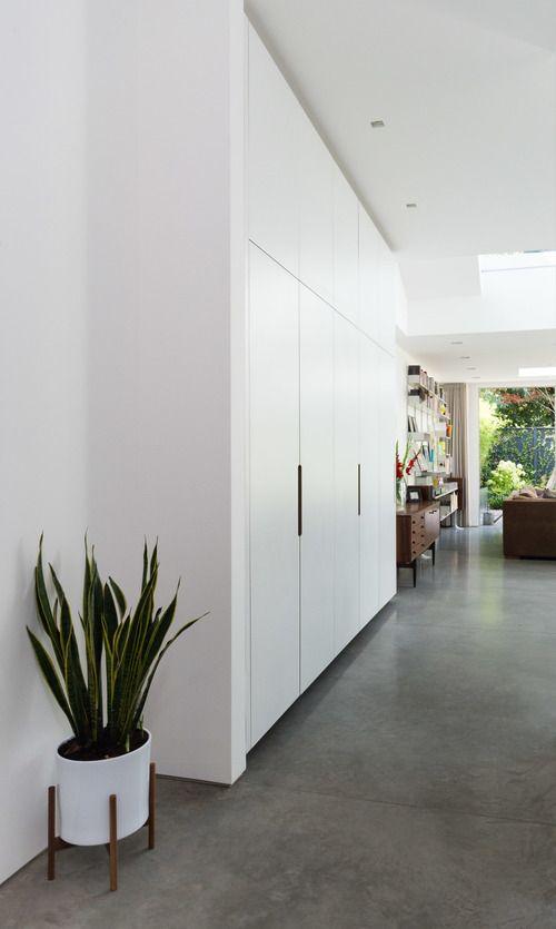 Floating Floor To Ceiling White Living