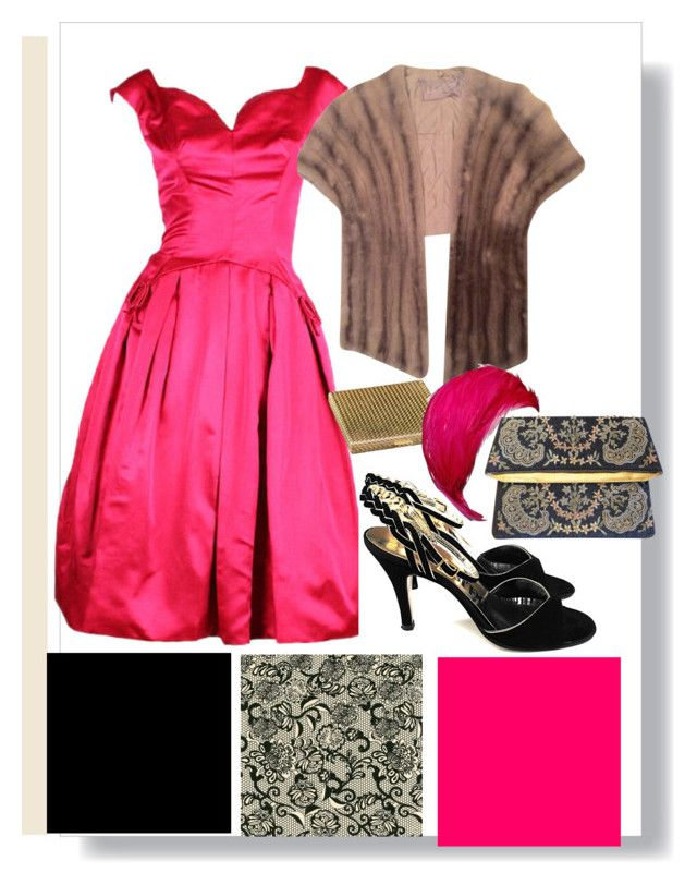 pink night out by clarerizzo on Polyvore featuring Boucheron