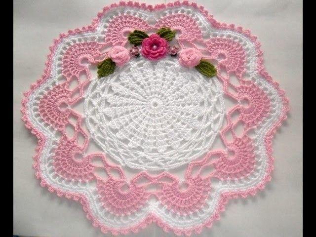 Flores y hojas para Centro de mesa en Crochet | carpetas | Pinterest ...