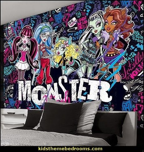 Monster High Wall Decor monster high wall decals - monster high room decor ideas | the
