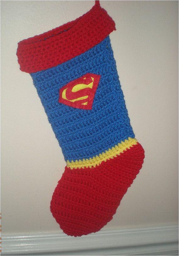 Super Hero Christmas Stocking Crocheted by TheCreativeMandM ...