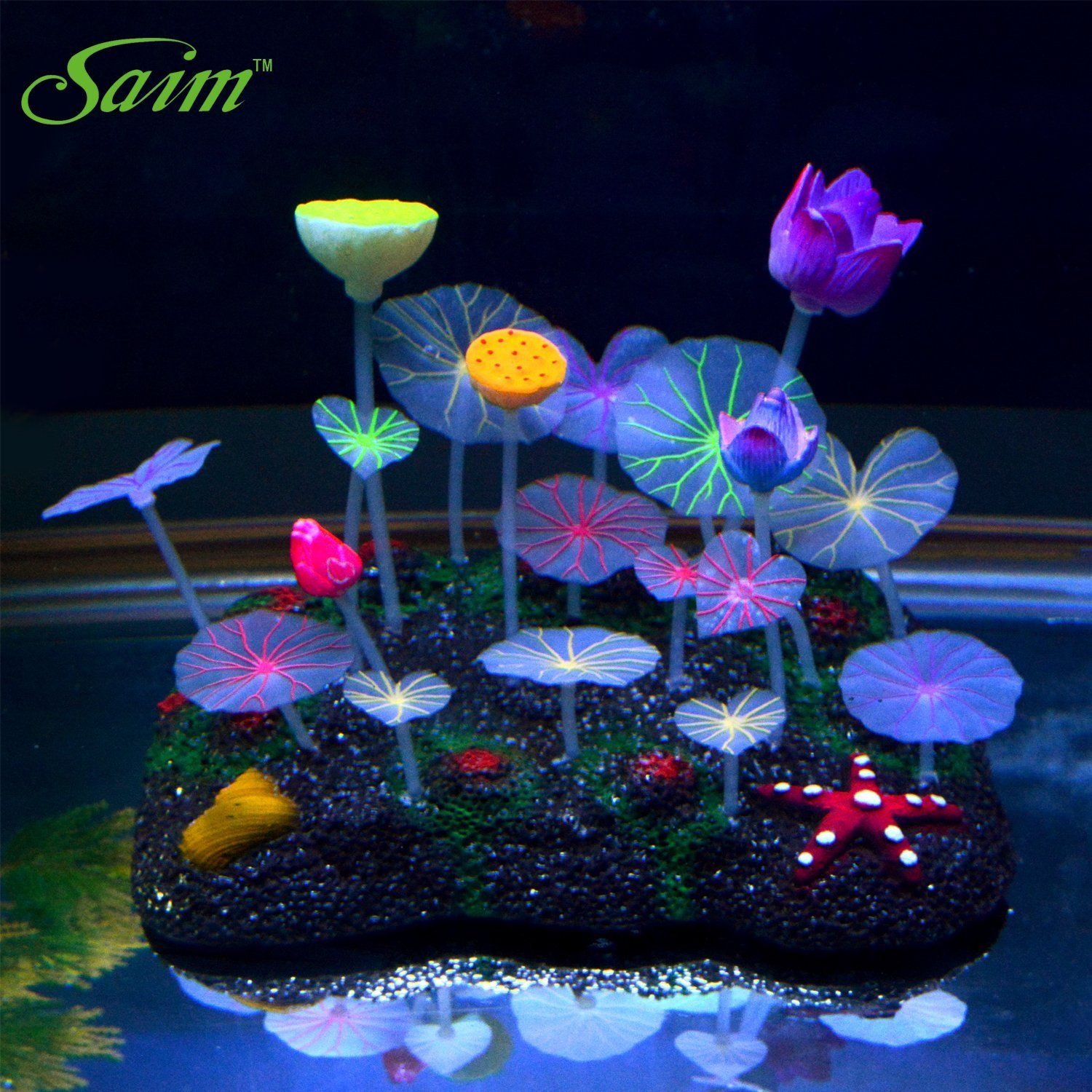 Amazon Saim Glowing Effect Artificial Lotus Root Leaves and