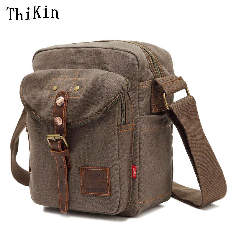 c71598fe08d Augur Multifunction Canvas Crossbody Messenger Bag Vintage Men Crossbody Bag  Shoulder Bag with Large Capacity Travel