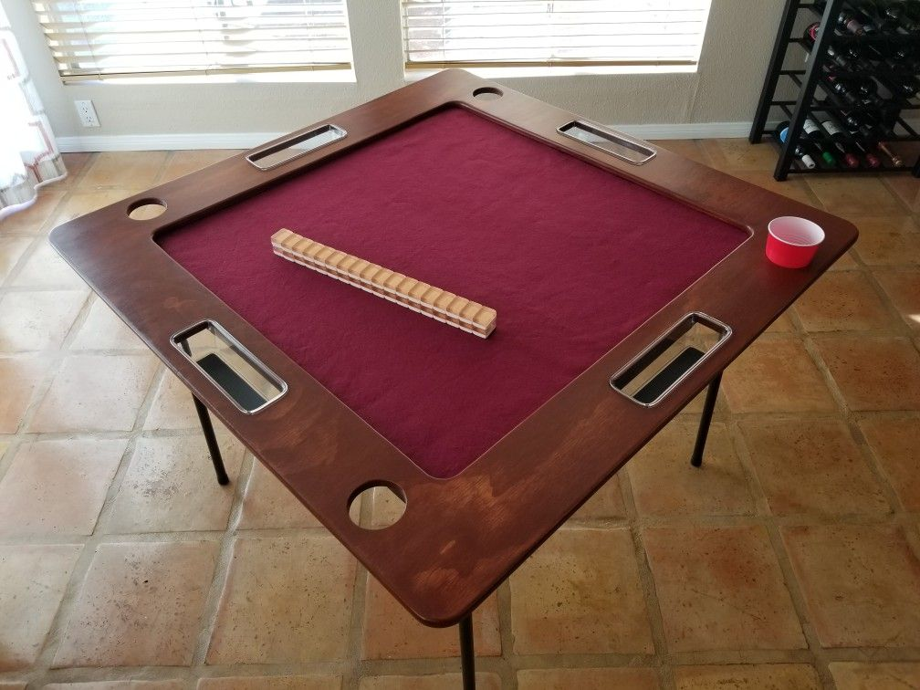 I Made This Mahjong Table Topper That Has A Removable Felt And Can