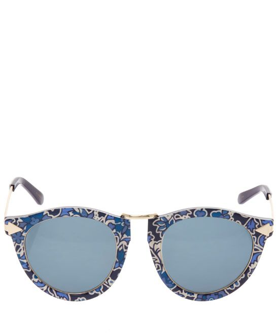 f6a69a967a6f Karen Walker Blue Liberty Print Harvest Sunglasses