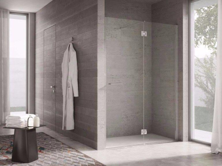 Box doccia a nicchia con porte a battente PROJECT by
