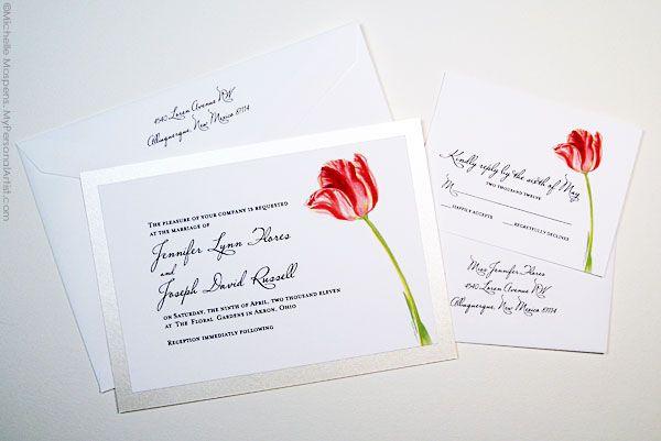 tulip wedding invitations