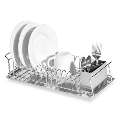 Oggia Compact 3 Piece Dish Rack And Cutlery Holder