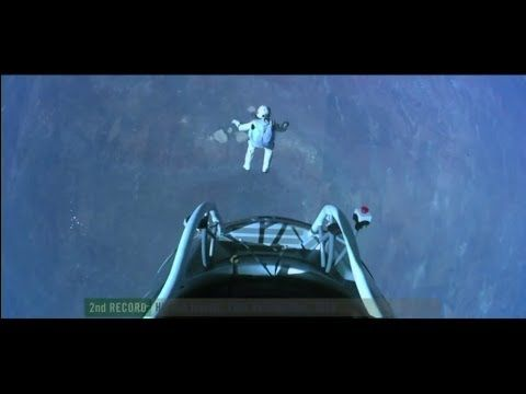 Man freefalls from space (WORLD RECORD HEIGHT)
