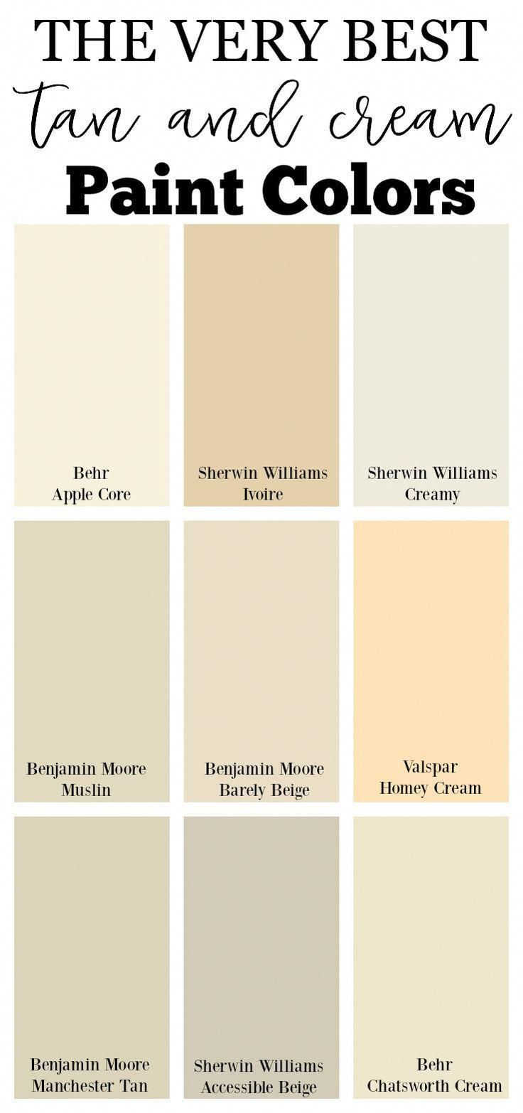 The Very Best Tan And Cream Paint Colors Farmhousepaintcolors Cream Paint Colors House Paint Color Combination Paint Colors For Living Room Cream room paint color