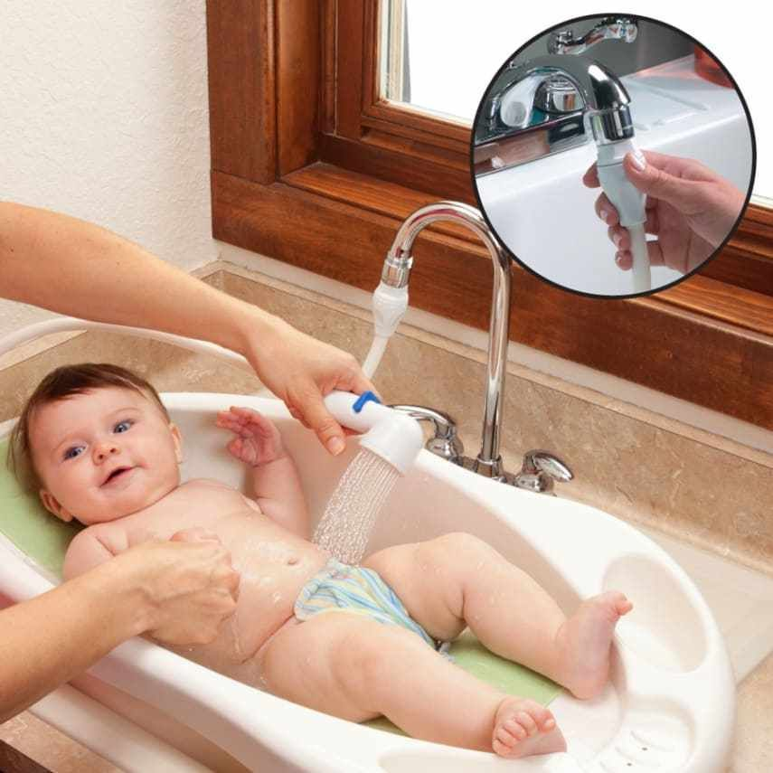 Rinse Acereg Sink Baby Rinser Makes Bathing Your Baby In The Sink
