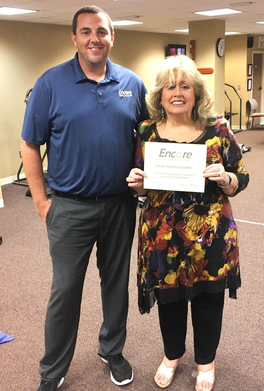 Shawn Collier is Patient of the Month for Encore