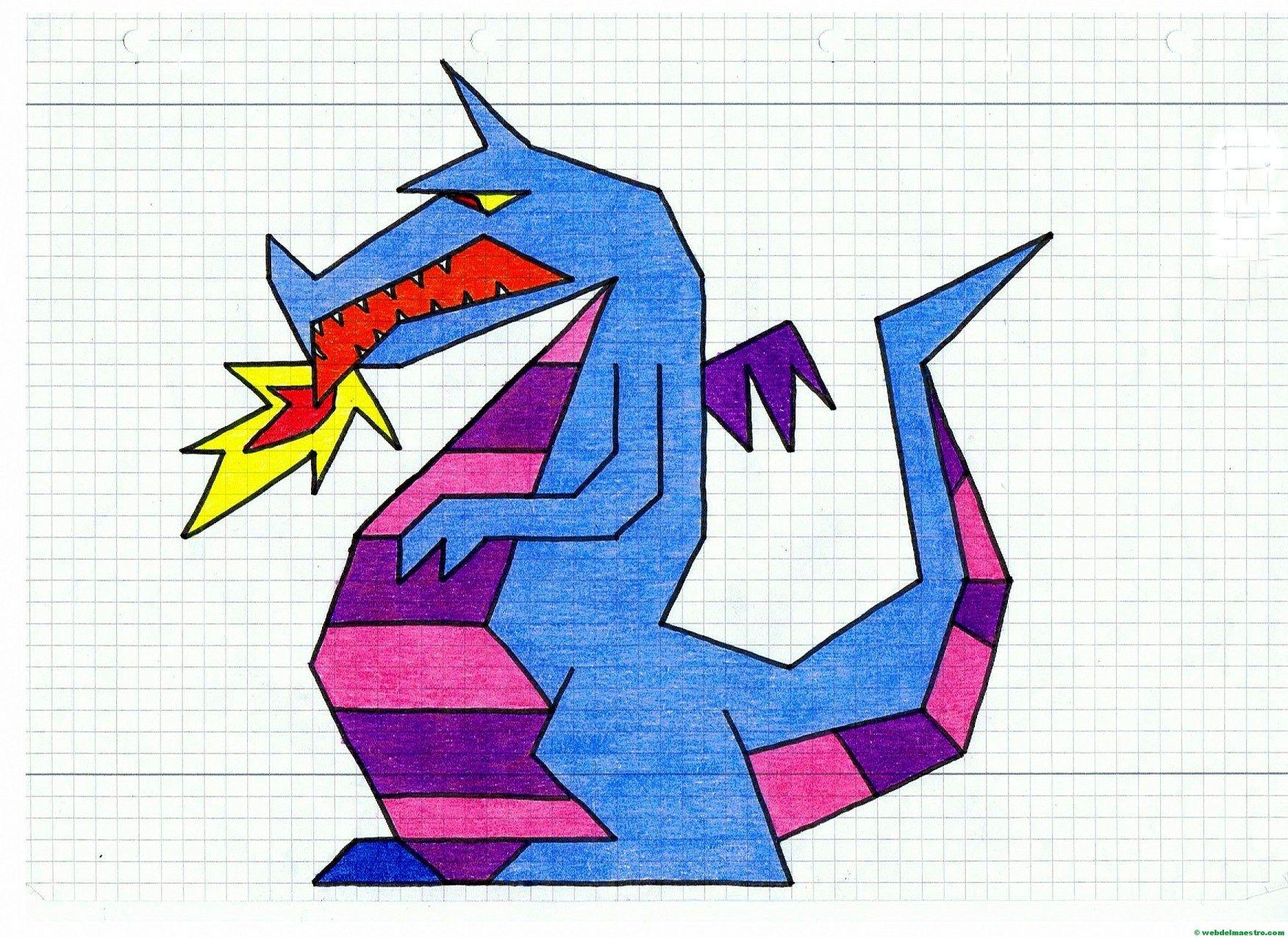 Днем рождения, оригами рисунок по клеточкам