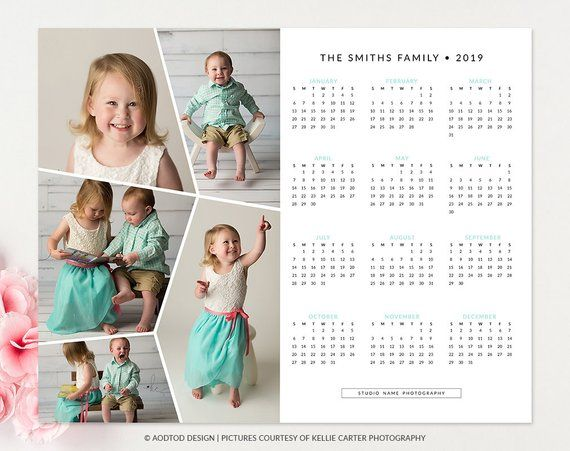 8x10 2019 Calendar Template Happy Time New Calendar Marketing