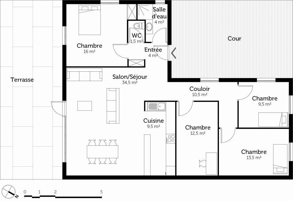 30 Plan Maison Plain Pied 3 Chambres Avec Suite Parentale How To