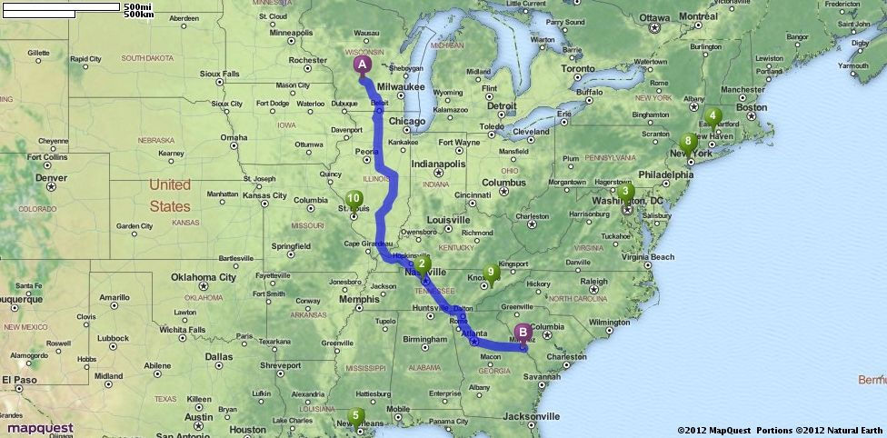 Driving Directions From Lake Delton Wisconsin To Augusta Georgia - Mapquest georgia