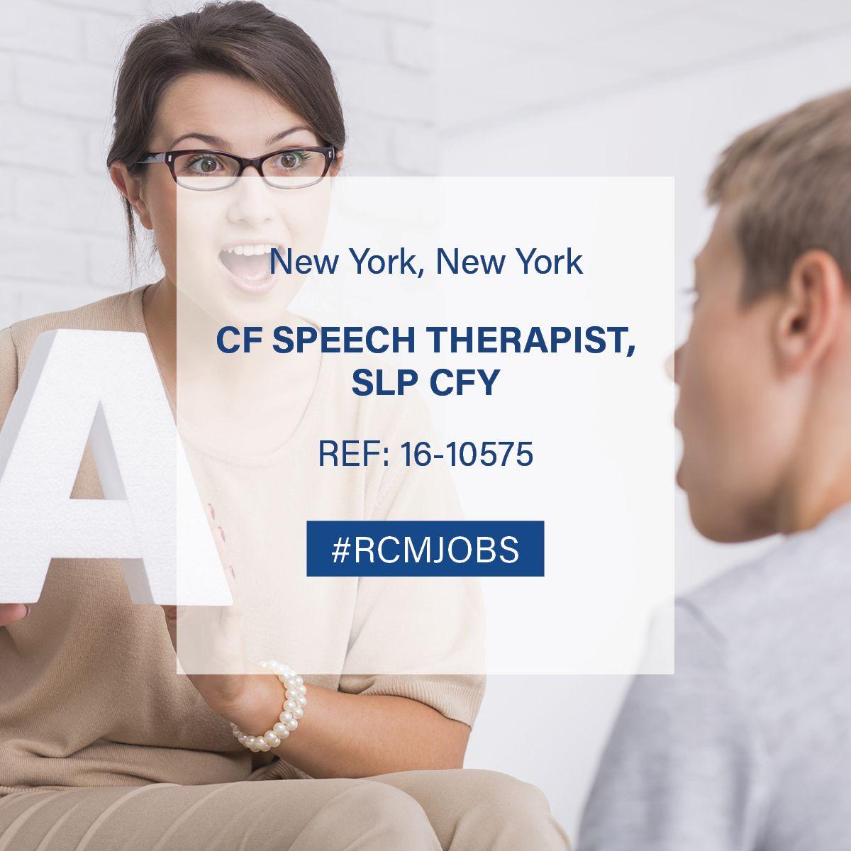 #jobsearch #rcmjobs #jobs #clinicaljobs #cfspeechtherapist #speechtherapist #slp #cfy #therapist #hospital #newyorkcity #newyork #careeradvice #clinicalcareer #careers #jobopportunity #clinicaljobsearch