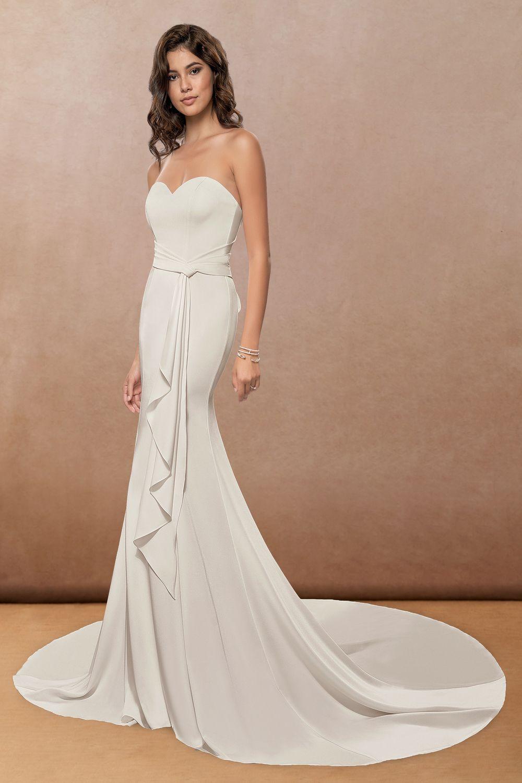 Azazie Camila Bg Wedding Dresses Azazie In 2020 Grecian Wedding Dress Sleek Wedding Dress Wedding Dresses [ 1500 x 1000 Pixel ]