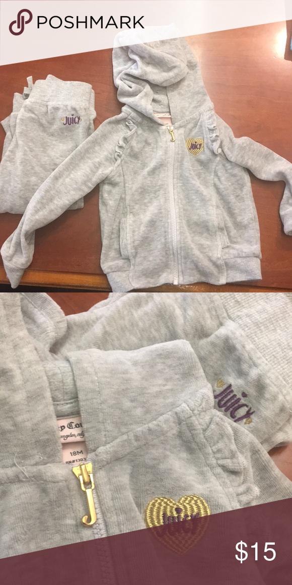 3d1339be936e 2 piece sweat suit Soft Velour sweat suit Juicy Couture Matching Sets