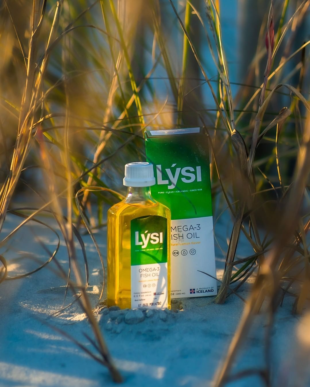 This bottle of lemon Omega-3 Oil made it all the way from Reykjavik, Iceland to - This bottle of lem...