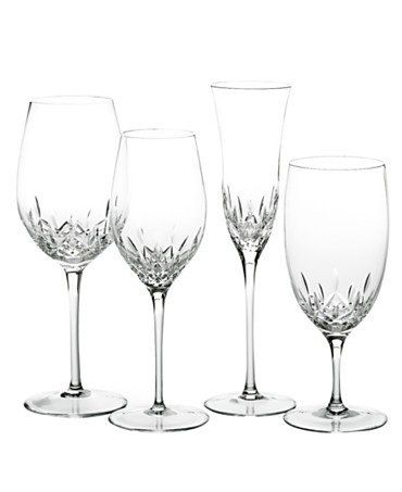 Gorgeous glassware at Macy's! Waterford Home Accents 'Lismore Essence' Stemware.