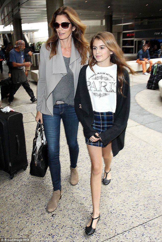 The next generation? Cindy Crawford's 13-year-old daughter ...